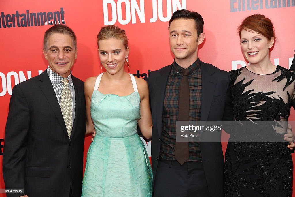 <a gi-track='captionPersonalityLinkClicked' href=/galleries/search?phrase=Tony+Danza&family=editorial&specificpeople=203133 ng-click='$event.stopPropagation()'>Tony Danza</a>, <a gi-track='captionPersonalityLinkClicked' href=/galleries/search?phrase=Scarlett+Johansson&family=editorial&specificpeople=171858 ng-click='$event.stopPropagation()'>Scarlett Johansson</a>, <a gi-track='captionPersonalityLinkClicked' href=/galleries/search?phrase=Joseph+Gordon-Levitt&family=editorial&specificpeople=213632 ng-click='$event.stopPropagation()'>Joseph Gordon-Levitt</a> and <a gi-track='captionPersonalityLinkClicked' href=/galleries/search?phrase=Julianne+Moore&family=editorial&specificpeople=171555 ng-click='$event.stopPropagation()'>Julianne Moore</a> attend 'Don Jon' New York Premiere at SVA Theater on September 12, 2013 in New York City.