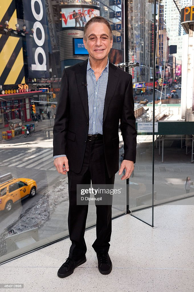Tony Danza visits 'Extra' at their New York studios at HM in Times Square on February 24 2015 in New York City