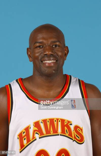 Tony Delk of the Atlanta Hawks poses for a portrait during NBA Media Day on October 4 2004 at Philips Arena in Atlanta Georgia NOTE TO USER User...