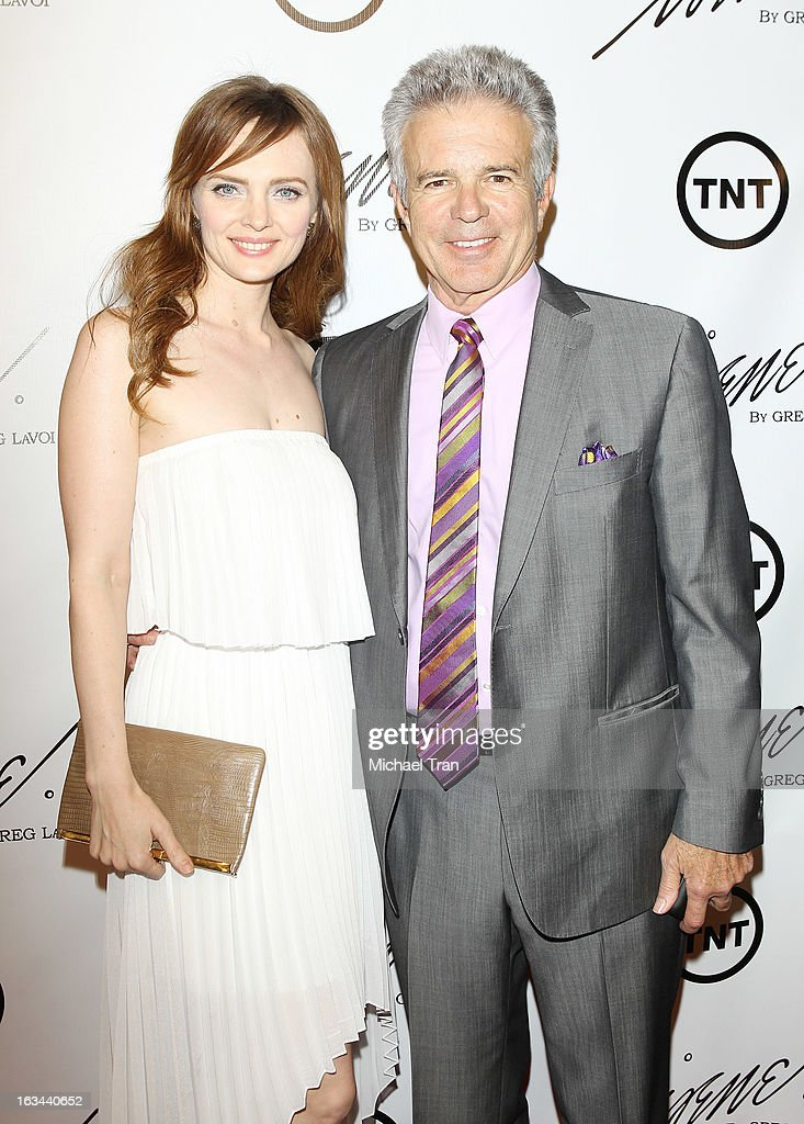 Tony Denison (R) and guest arrive at the 2013 Los Angeles Fashion Week - The House Of Irene Autumn/Winter 2013 fashion show held at Raleigh Studios on March 9, 2013 in Los Angeles, California.