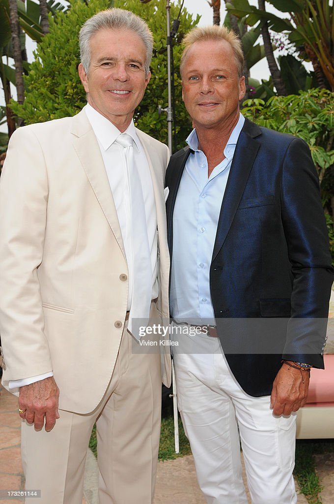 Tony Denison and Michael Hogg attend Gen:A And Michael Hogg Presents The Summer Soiree Of Season And The Agenostic Man Book Launch at Beverly Hills Hotel on July 10, 2013 in Beverly Hills, California.