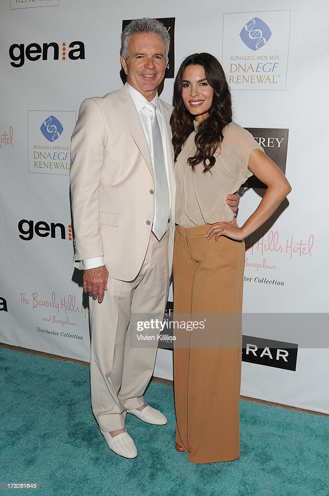 Tony Denison and Nadine Velazquez attend Gen:A And Michael Hogg Presents The Summer Soiree Of Season And The Agenostic Man Book Launch at Beverly Hills Hotel on July 10, 2013 in Beverly Hills, California.