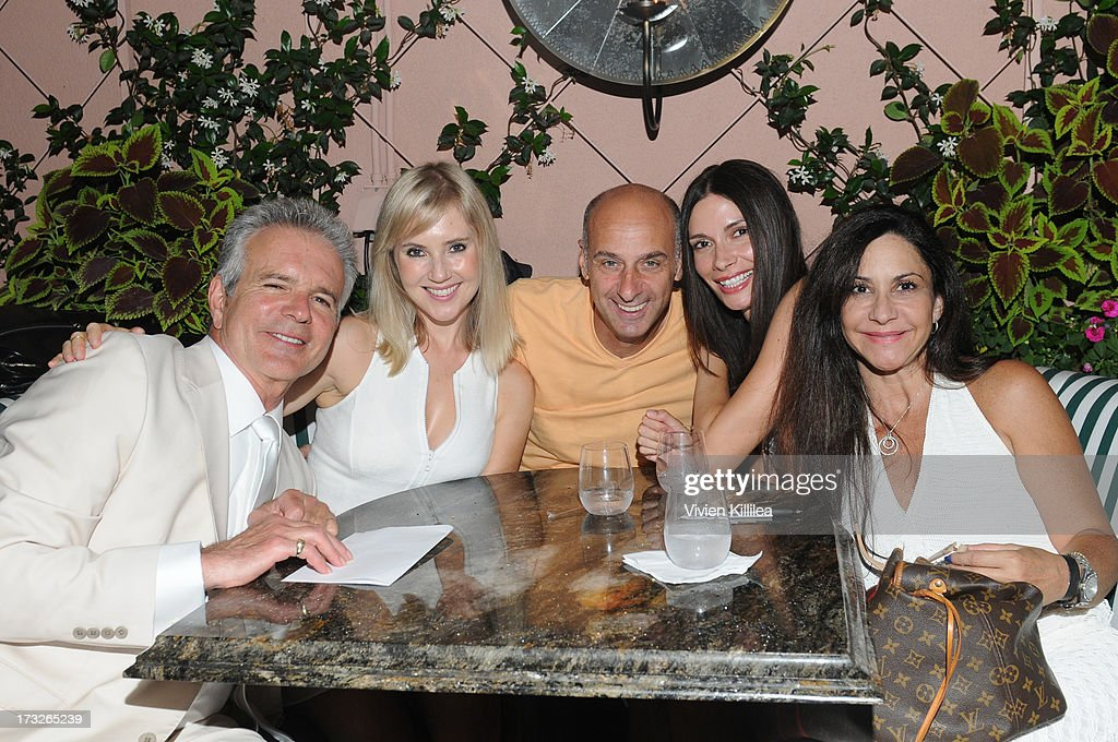 Tony Denison, Georgii Speakman, David Marciano, Claudia Graf and a guest attend Gen:A And Michael Hogg Presents The Summer Soiree Of Season And The Agenostic Man Book Launch at Beverly Hills Hotel on July 10, 2013 in Beverly Hills, California.