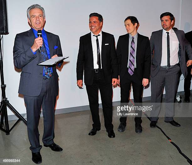 Tony Denison introduces AWOL Studios founders Jhan Harp Joe Arias and Charles Hillard arrive at AWOL Studios launch hosted by Major Crimes star Tony...