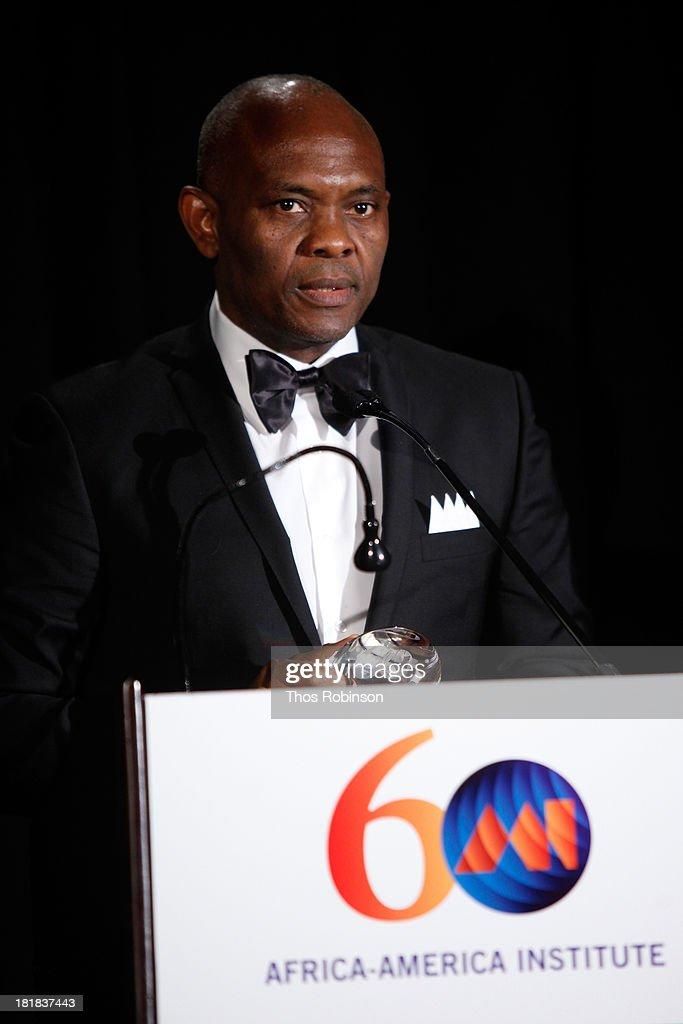 Tony Elumelu speaks during the Africa-America Institute 60th Anniversary Awards Gala at New York Hilton on September 25, 2013 in New York City.