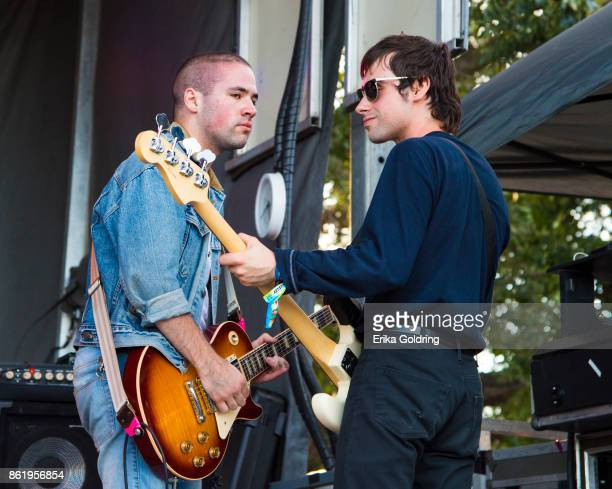 Tony Esposito and Sam Wilkerson of White Reaper perform during Austin City Limits Festival at Zilker Park on October 15 2017 in Austin Texas