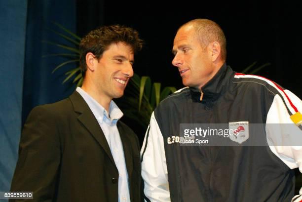 Tony ESTANGUET / Guy FORGET Tirage au sort de Coupe Davis Pau