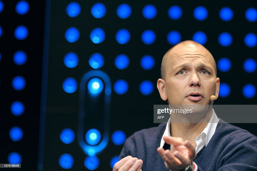Tony Fadell, Founder and CEO of Nest Labs, Inc talks during the opening session of LeWeb12 on December 04, 2012 in Saint-Denis, near Paris. AFP PHOTO ERIC PIERMONT