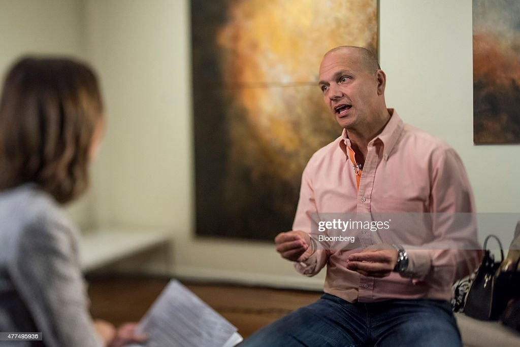 <a gi-track='captionPersonalityLinkClicked' href=/galleries/search?phrase=Tony+Fadell&family=editorial&specificpeople=8578729 ng-click='$event.stopPropagation()'>Tony Fadell</a>, founder and chief executive officer at Nest Labs Inc., speaks during a Bloomberg West television interview in this photo taken with a tilt-shift lens in San Francisco, California, U.S., on Wednesday, June 17, 2015. Google Inc.'s Nest Labs rolled out an overhaul of its product line, including a new version of a home-security camera and smoke alarm, pushing the Web company deeper into technologies for smart homes. Photographer: David Paul Morris/Bloomberg via Getty Images