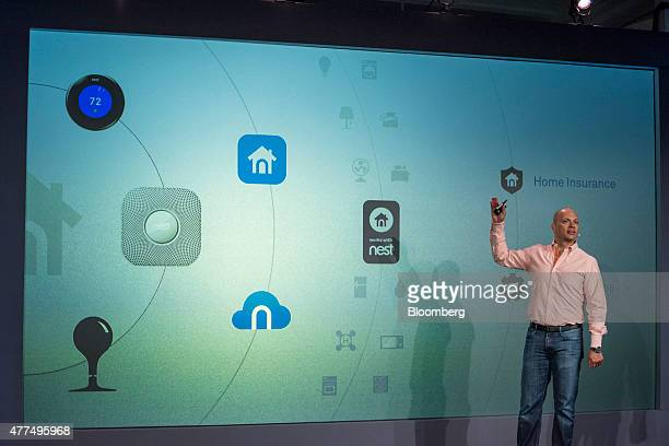 Tony Fadell founder and chief executive officer at Nest Labs Inc speaks during a Nest Labs event in San Francisco California US on Wednesday June 17...