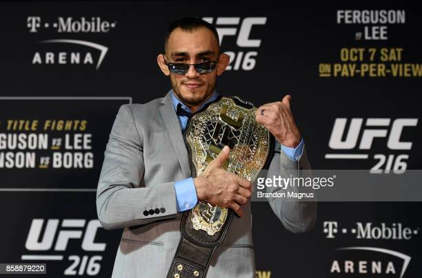 Tony Ferguson poses for a picture after the UFC 216 event inside TMobile Arena on October 7 2017 in Las Vegas Nevada