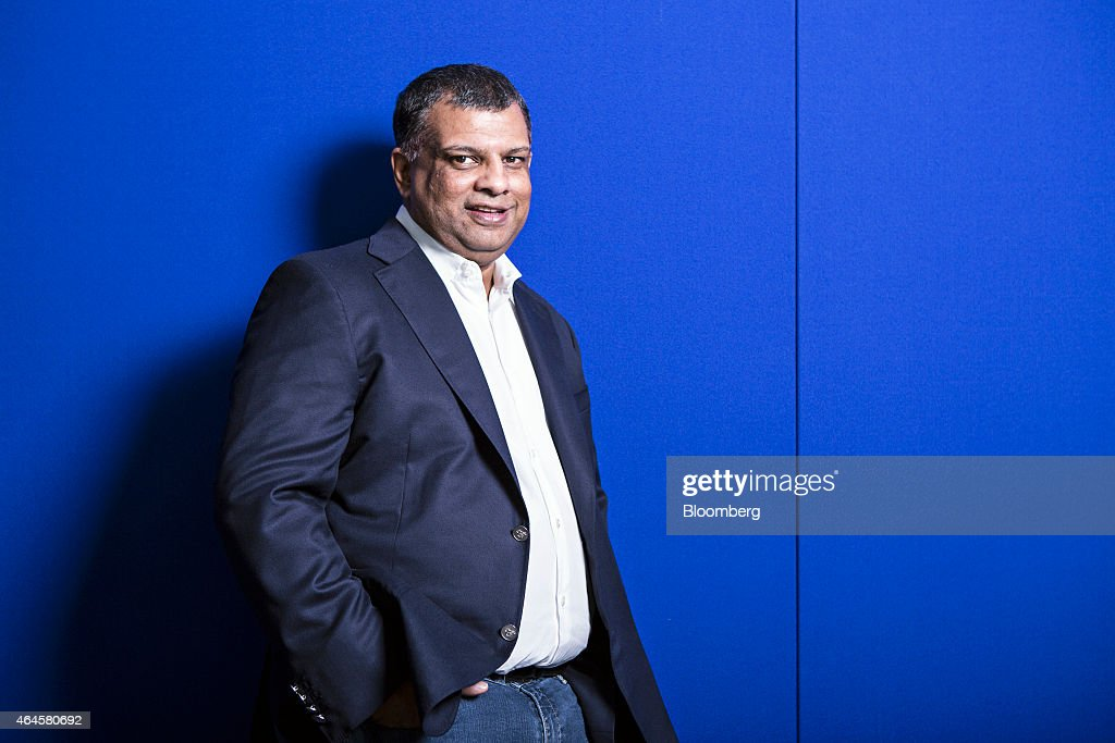 <a gi-track='captionPersonalityLinkClicked' href=/galleries/search?phrase=Tony+Fernandes&family=editorial&specificpeople=2103805 ng-click='$event.stopPropagation()'>Tony Fernandes</a>, chief executive officer of AirAsia Bhd., poses for a photograph in Kuala Lumpur, Malaysia, on Friday, Feb. 27, 2015. AirAsia has good tailwinds behind it' with lower oil prices as well as strong performance from all its subsidiaries, Fernandes said on Bloomberg Television. Photographer: Charles Pertwee/Bloomberg via Getty Images