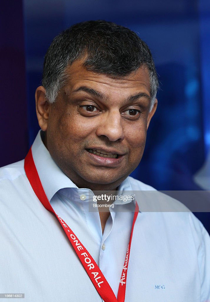 Tony Fernandes, chief executive officer of AirAsia Bhd., speaks during an interview in Kuala Lumpur, Malaysia, on Thursday, Nov. 22, 2012. AirAsia, the region's biggest discount carrier, said it may add only one more major hub for expansion as it focuses on boosting profits from Malaysia, Thailand and Indonesia in the next three years. Photographer: Goh Seng Chong/Bloomberg via Getty Images