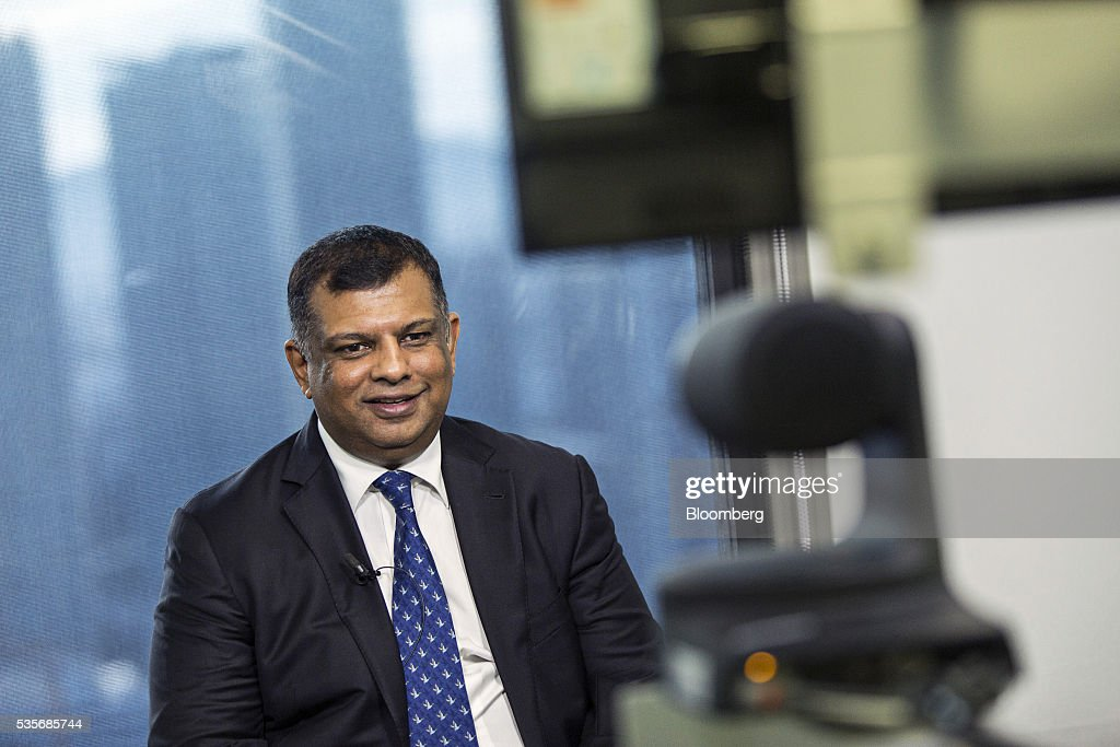 Tony Fernandes, group chief executive officer of AirAsia Bhd., speaks during a Bloomberg Television interview in Kuala Lumpur, Malaysia, on Monday, May 30, 2016. AirAsia, the region's biggest discount carrier, got an offer of about $1 billion to buy its aircraft-leasing company, amid a surge in the business in the continent. Photographer: Charles Pertwee/Bloomberg via Getty Images