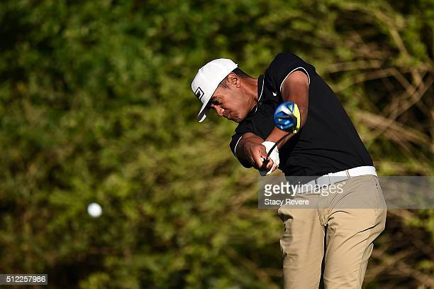 Tony Finau of the United States hits his tee shot on the third hole during the first round of the Honda Classic at PGA National Resort Spa Champions...