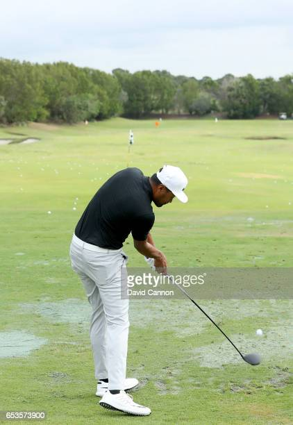 Tony Finau of the United States plays a driver during the Els for Autism proam at the Old Palm Golf Club Open on March 13 2017 in West Palm Beach...