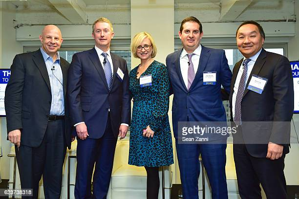 Tony Fineman Dennis Shuh Greta Guggenheim Peter Sotoloff and Drew D Fung attend The Commercial Observer Financing Commercial Real Estate at 666 Fifth...