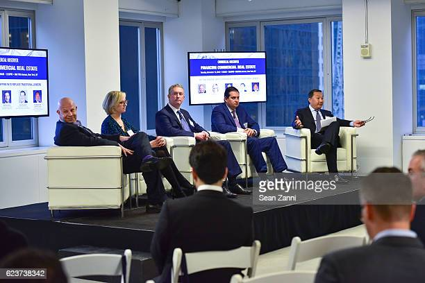Tony Fineman Greta Guggenheim Dennis Shuh Peter Sotoloff and Drew D Fung attend The Commercial Observer Financing Commercial Real Estate at 666 Fifth...