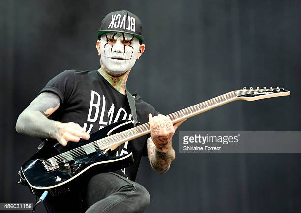 Tony Friend of Modestep performs on Day 3 of The Leeds Festival at Bramham Park on August 30 2015 in Leeds England
