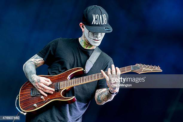 Tony Friend of Modestep performs onstage during day 1 of Download 2015 at Donnington Park on June 12 2015 in Donnington United Kingdom