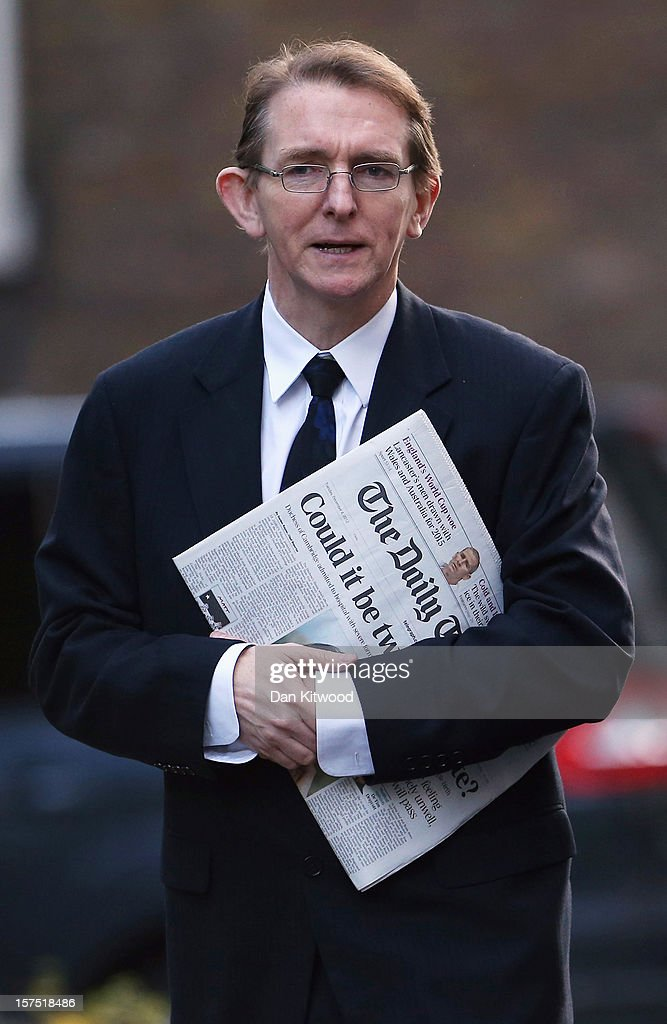 Tony Gallagher, the editor of The Telegraph arrives on Downing Street on December 4, 2012 in London, England. Most editors of the national daily newspapers are meeting the Prime Minister David Cameron and culture secretary Maria Miller in Downing Street to discuss ideas for a new system of press regulation.