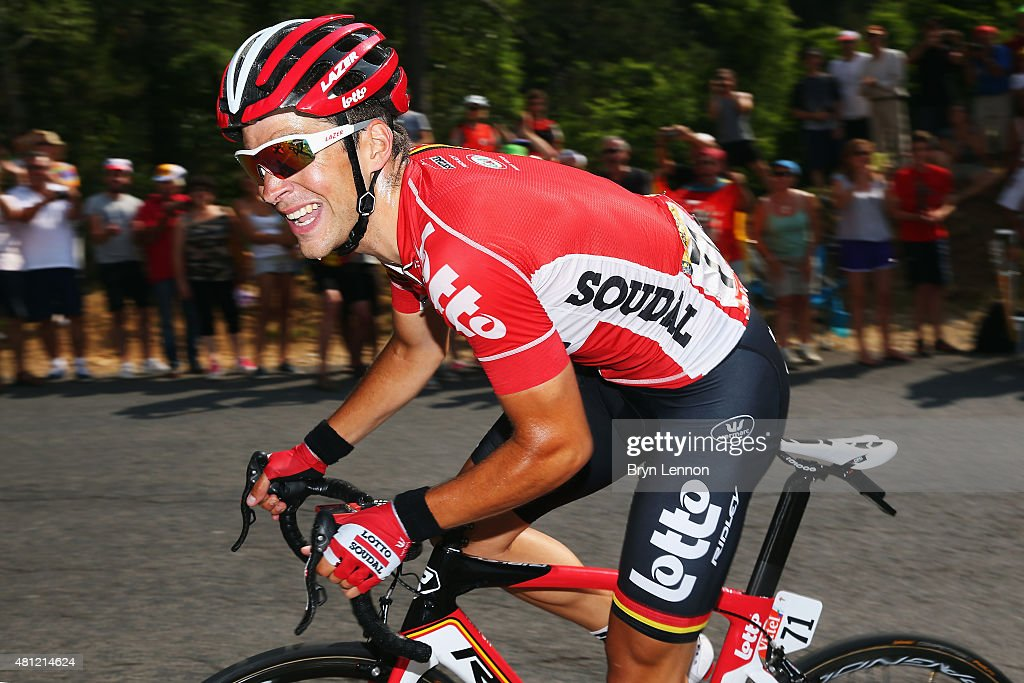 <a gi-track='captionPersonalityLinkClicked' href=/galleries/search?phrase=Tony+Gallopin&family=editorial&specificpeople=6712360 ng-click='$event.stopPropagation()'>Tony Gallopin</a> of France and Lotto-Soudal in action on stage fourteen of the 2015 Tour de France, a 178km stage between Rodez and Mende, on July 18, 2015 in Mende, France.