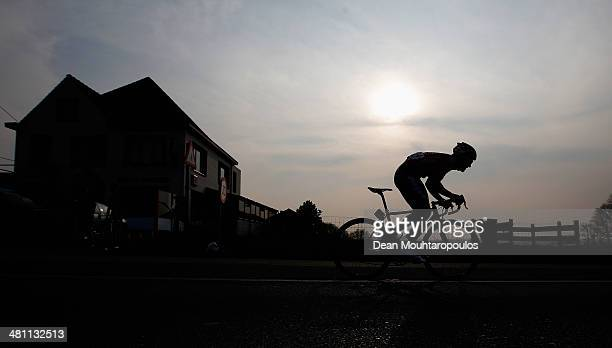 Tony Gallopin of France competes in the E3 Harelbeke Cycle Race on March 28 2014 in Harelbeke Belgium