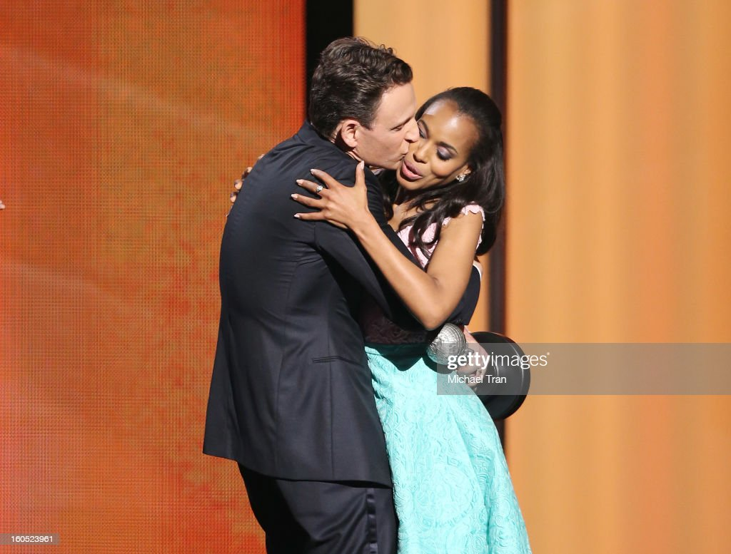 Tony Goldwyn (L) and Kerry Washington attend the 44th NAACP Image Awards - show held at The Shrine Auditorium on February 1, 2013 in Los Angeles, California.