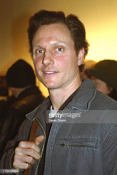 Tony Goldwyn during Tony Goldwyn exits the play 'The Exonerated' January 7 2003 at The Bleeker Theatre in New York City New York United States