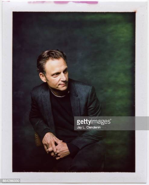 Tony Goldwyn from the film 'Mark Felt The Man Who Brought Down the White House' is photographed on polaroid film at the LA Times HQ at the 42nd...