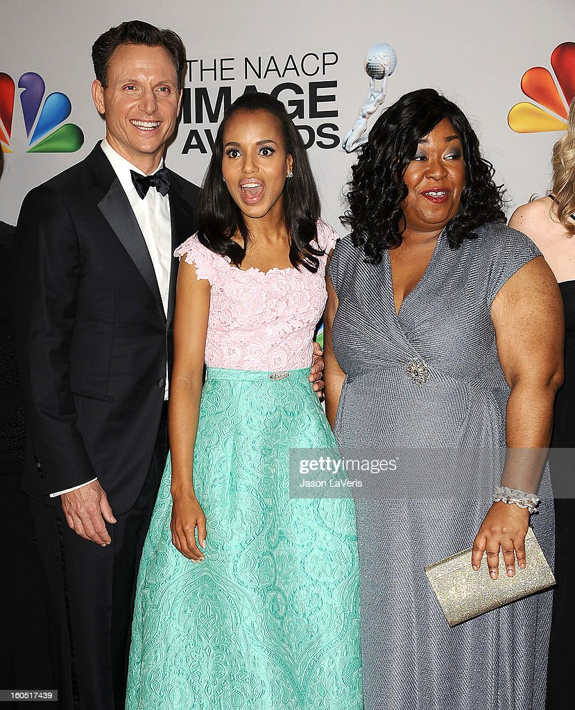 <a gi-track='captionPersonalityLinkClicked' href=/galleries/search?phrase=Tony+Goldwyn&family=editorial&specificpeople=234897 ng-click='$event.stopPropagation()'>Tony Goldwyn</a>, <a gi-track='captionPersonalityLinkClicked' href=/galleries/search?phrase=Kerry+Washington&family=editorial&specificpeople=201534 ng-click='$event.stopPropagation()'>Kerry Washington</a> and <a gi-track='captionPersonalityLinkClicked' href=/galleries/search?phrase=Shonda+Rhimes&family=editorial&specificpeople=572007 ng-click='$event.stopPropagation()'>Shonda Rhimes</a> pose in the press room at the 44th NAACP Image Awards at The Shrine Auditorium on February 1, 2013 in Los Angeles, California.