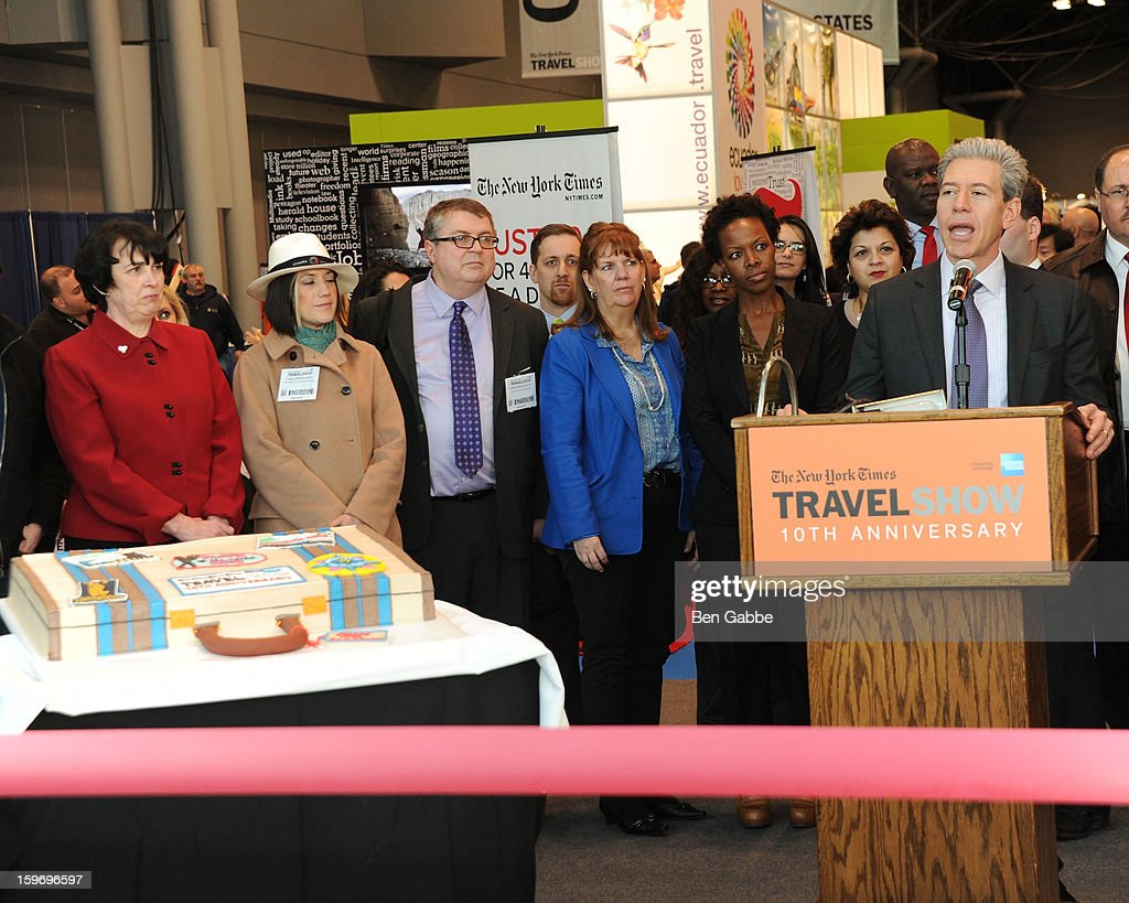 Tony Gonchar attends The 10th Annual New York Times Travel Show Ribbon Cutting And Preview at Javits Center on January 18, 2013 in New York City.