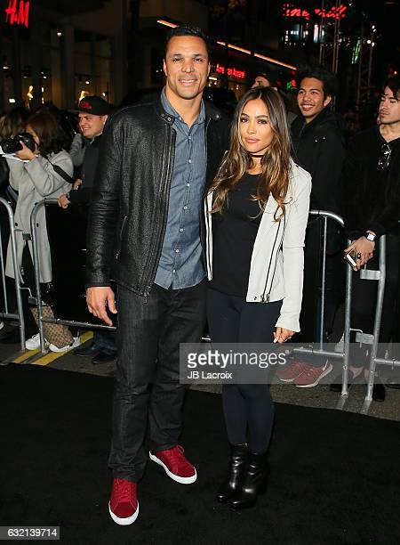 Tony Gonzalez and October Gonzalez attend the premiere of Paramount Pictures' 'xXx Return Of Xander Cage' on January 19 2017 in Los Angeles California