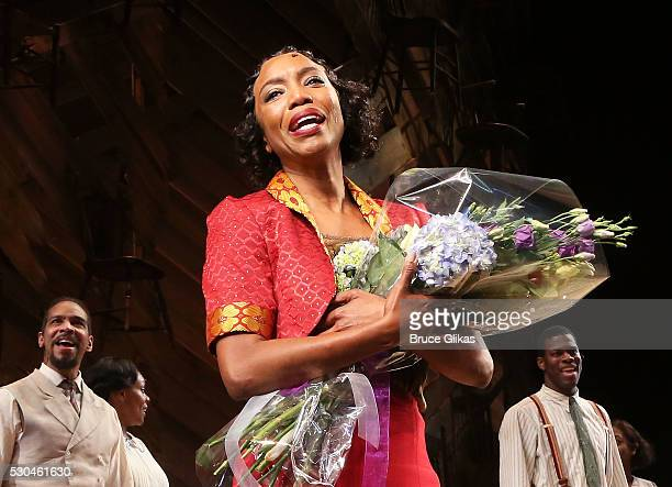 Tony Grammy Winner Heather Headley takes her Opening Night curtain call as 'Shug Avery' in 'The Color Purple' on Broadway at The Bernard B Jacobs...