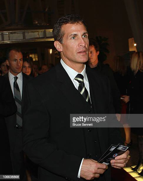 Tony Granato walks the red carpet prior to the Hockey Hall of Fame induction ceremony at the Hockey Hall of Fame on November 8 2010 in Toronto Canada