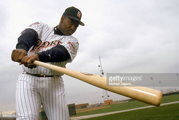 Tony Gwynn of the San Diego Padres poses for a publicity photo during Spring Training on February 20 1998