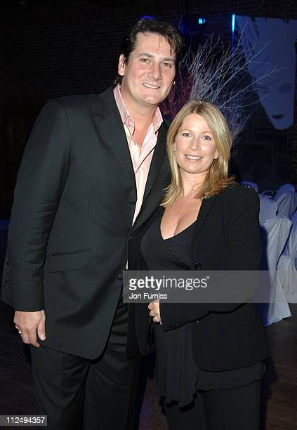Tony Hadley and Alison Evers during The Ice Ball 2006 Inside at The Brewery in London Great Britain