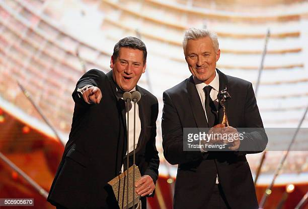 Tony Hadley and Martin Kemp present at the 21st National Television Awards at The O2 Arena on January 20 2016 in London England