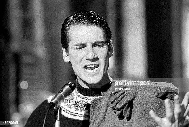Tony Hadley of Spandau Ballet performing at The London Dungeon Tooley Street London during the filming of a pop video for Chrysalis Records for their...