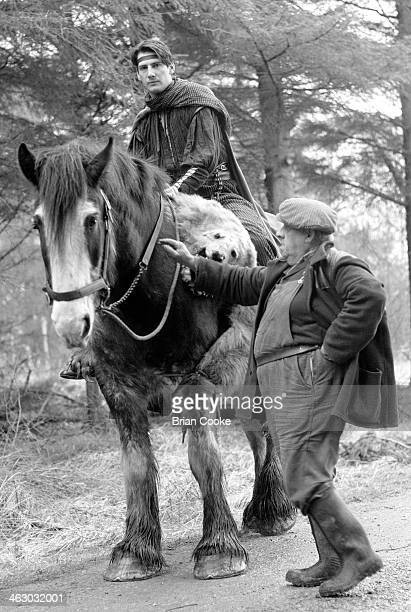 Tony Hadley of Spandau Ballet photographed on location in the Kirkstone Pass Lake District Cumbria during the shooting of a promotional film for...