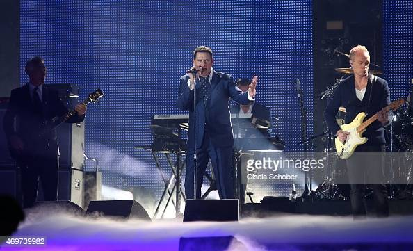 Tony Hadley singer of Spandau Ballet during the LEA Live Entertainment Award 2015 at Festhalle Frankfurt on April 14 2015 in Frankfurt am Main Germany