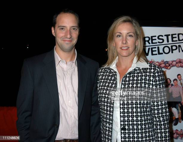 Tony Hale and wife during Yacht Party for New Fox Series 'Arrested Development' at FantaSea Yacht in Marina Del Rey California United States