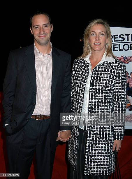 Tony Hale and wife Martel during Yacht Party for New Fox Series 'Arrested Development' at FantaSea Yacht in Marina Del Rey California United States