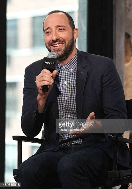 Tony Hale attends AOL's BUILD Speaker Series Presents 'American Ultra' at AOL Studios In New York on August 20 2015 in New York City