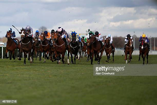 Tony Hamilton riding Gabrial win The Betway Lincoln at Doncaster racecourse on March 28 2015 in Doncaster England