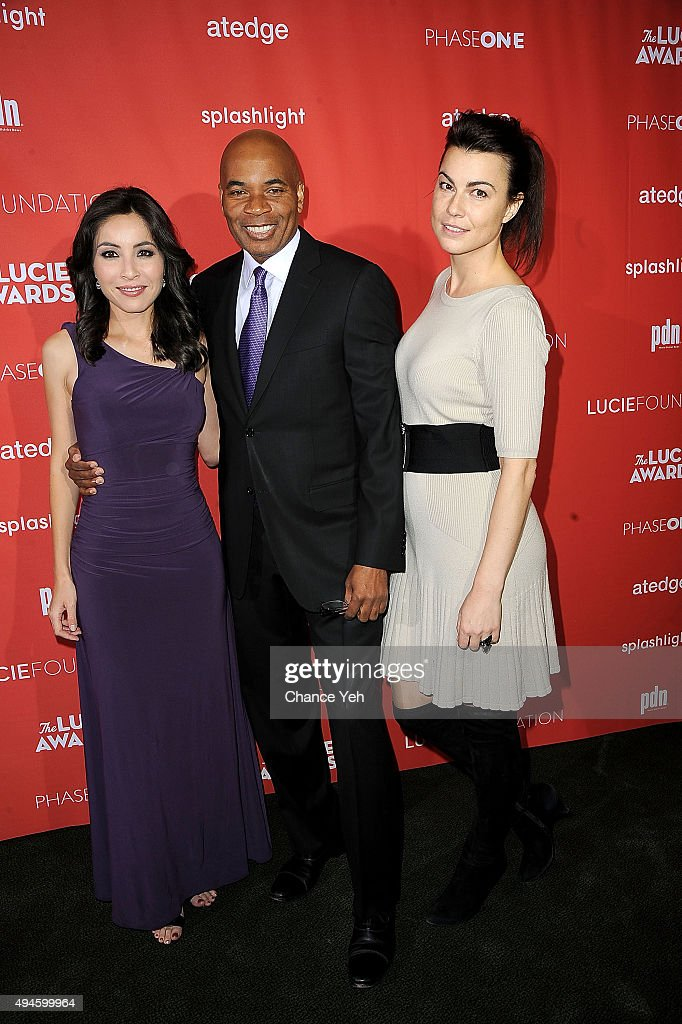 Tony Harriis, Roxana Saberi, and Dara Diskadets attend 13th Annual Lucie Awards at Zankel Hall, Carnegie Hall on October 27, 2015 in New York City.