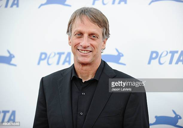 Tony Hawk attends PETA's 35th anniversary party at Hollywood Palladium on September 30 2015 in Los Angeles California