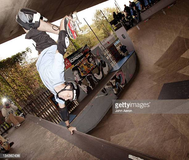 Tony Hawk during 'Tony Hawk's Underground 2' Live Skate Demonstration at Bay Sixty 6 Skate Park in London Great Britain