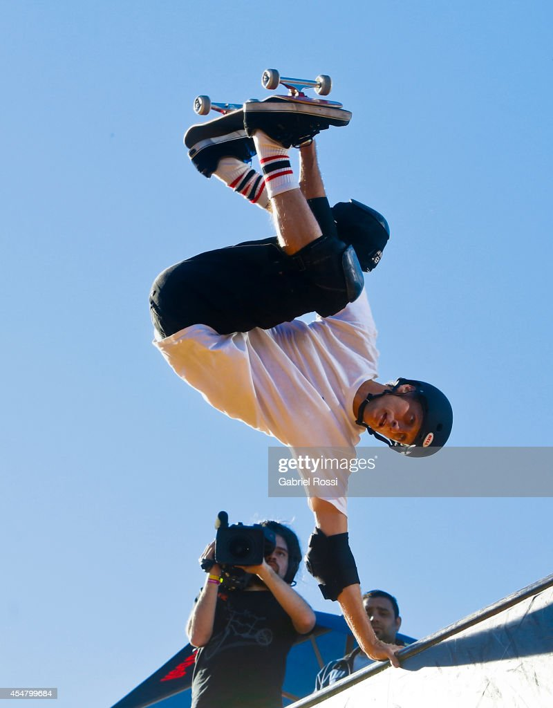 Tony Hawk in action during the Xtreme Life Fest on September 6 2014 in Buenos Aires Argentina This is Tony Hawk's first exhibition in Argentina