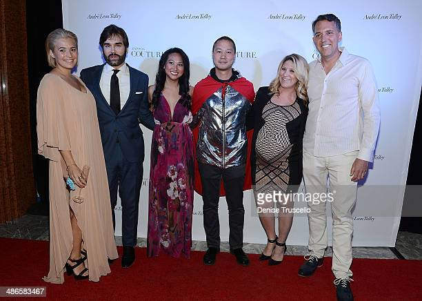Tony Hsieh and guests arrive at Zappos Couture celebration of 20 years of fashion gallery auction in support of Las Vegas DRESS FOR SUCCESS at The...